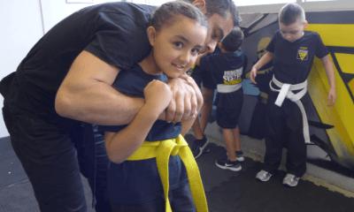 kid trained for krav maga