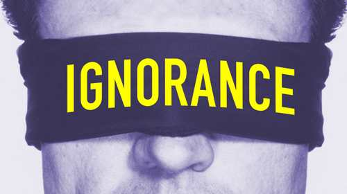 Ignorance causes fights